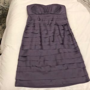 Strapless Max & Cleo purple strapless dress